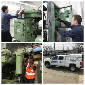 Updating compressed air network & compressor rebuild